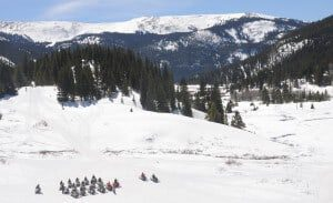 snowmobiling in Leadville Colorado
