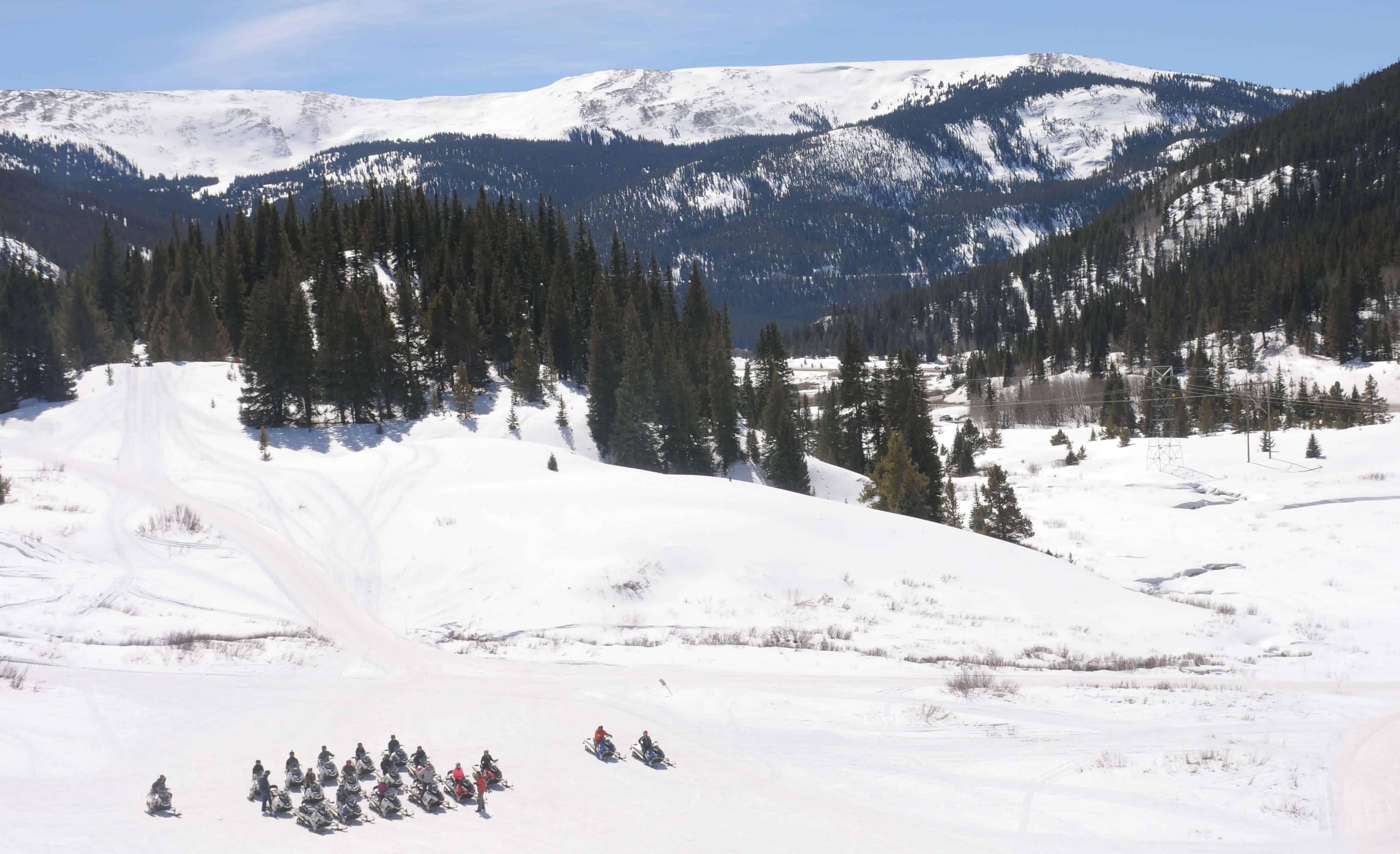 Snowmobiling in Leadville, CO