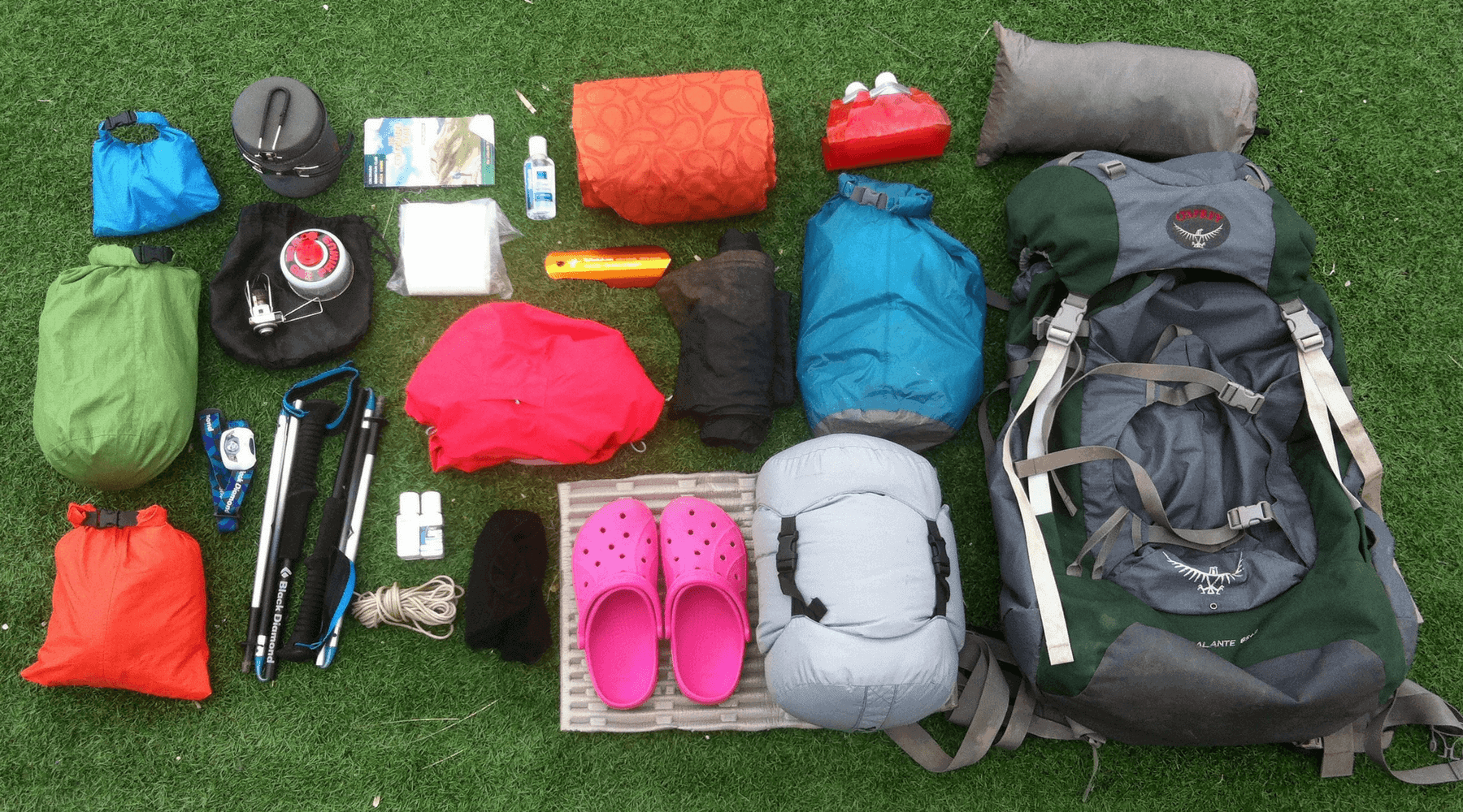 appalachian trail backpacking gear list