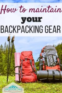 How to clean and maintain your backpacking gear