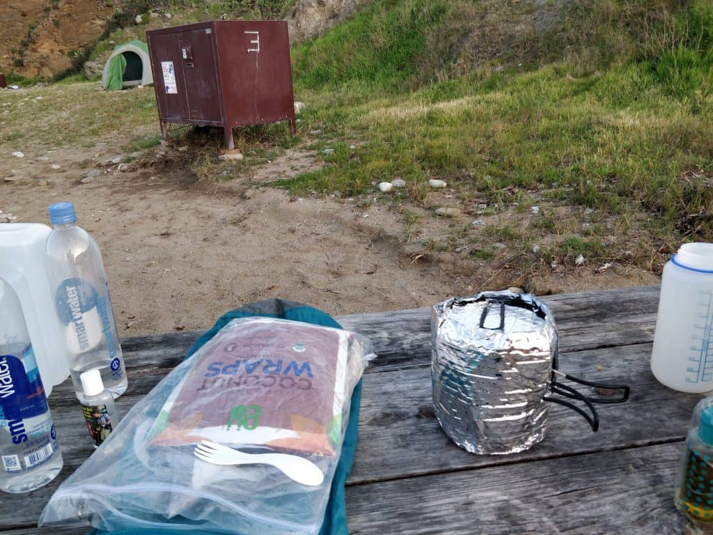 storing food and trash while camping