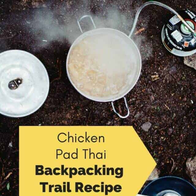 backpacking meal ideas chicken pad thai