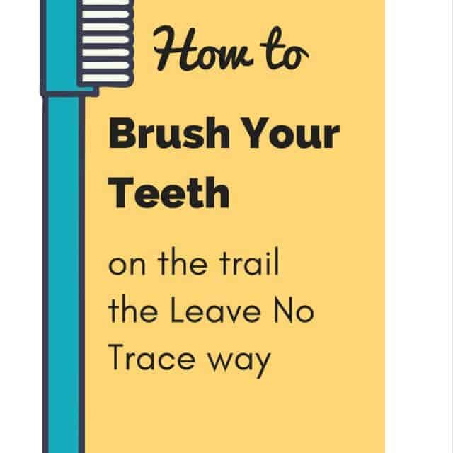 brush your teeth in the woods and leave no trace