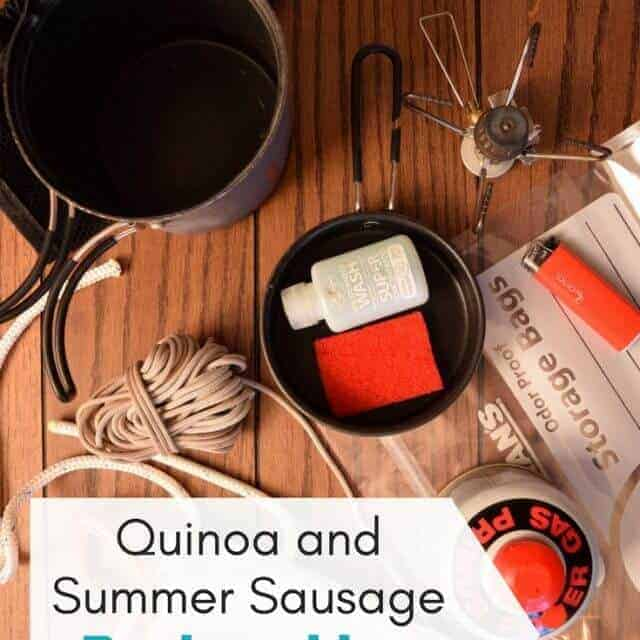 backpacking dinner recipe quinoa and summer sausage