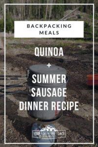 backpacking dinner recipe