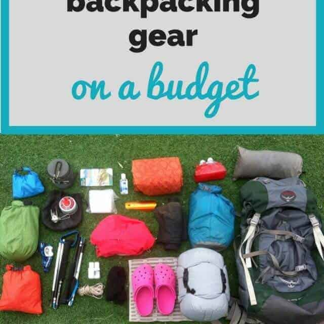 cheap backpacking gear