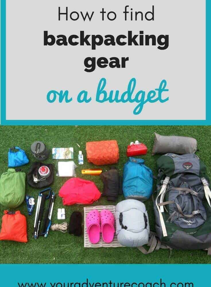 Where to look for cheap backpacking gear