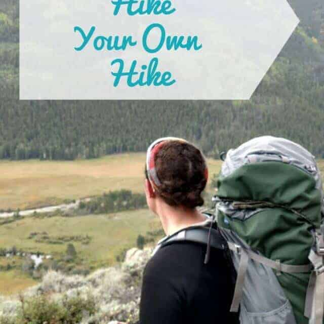hike your own hike on the appalachian trail