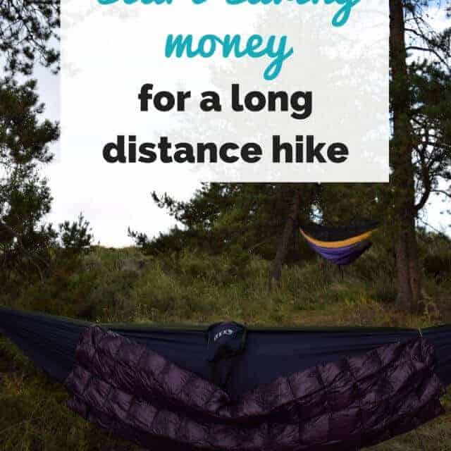 how to save money for a thru hike on the appalachian trail
