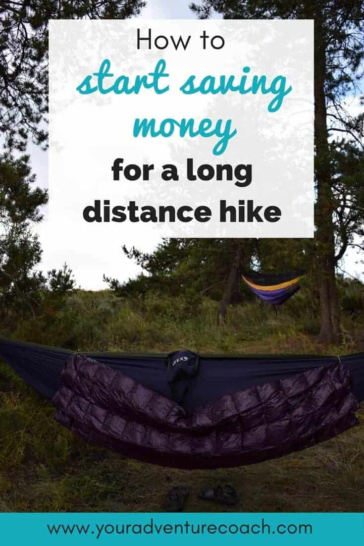 how to save money for a thru hike