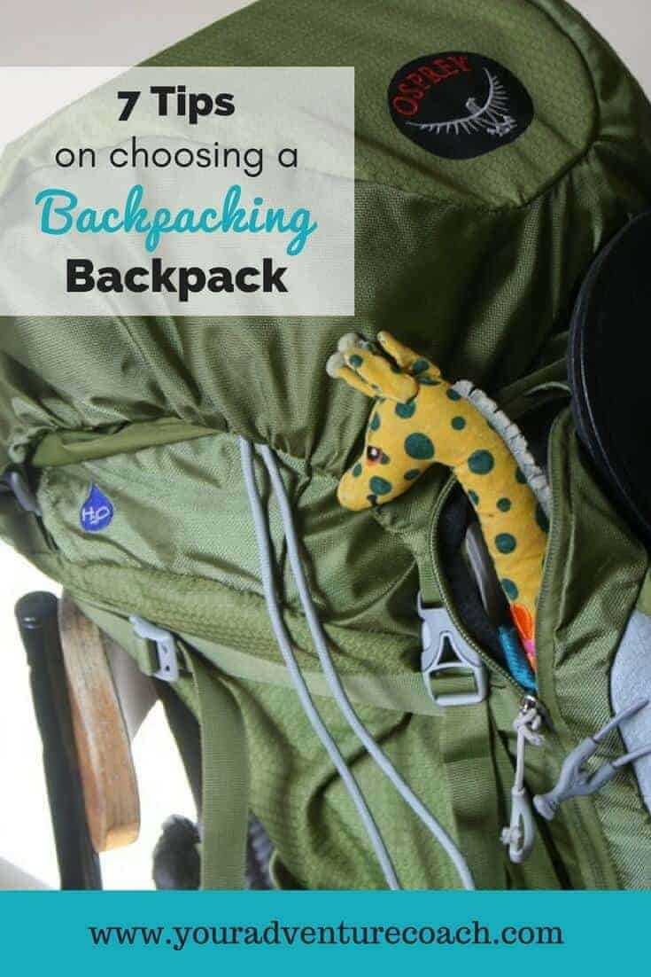 7 tips on choosing a backpacking backpack with a green Osprey backpack