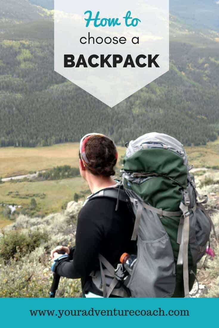 how to choose a backpack for hiking with a girl wearing a backpack