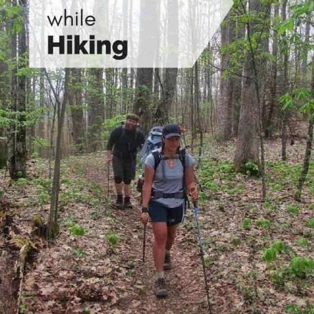 how to stay motivated while hiking picturing two hikers on the appalachian trail