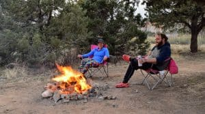 Campsite near Zion National Park