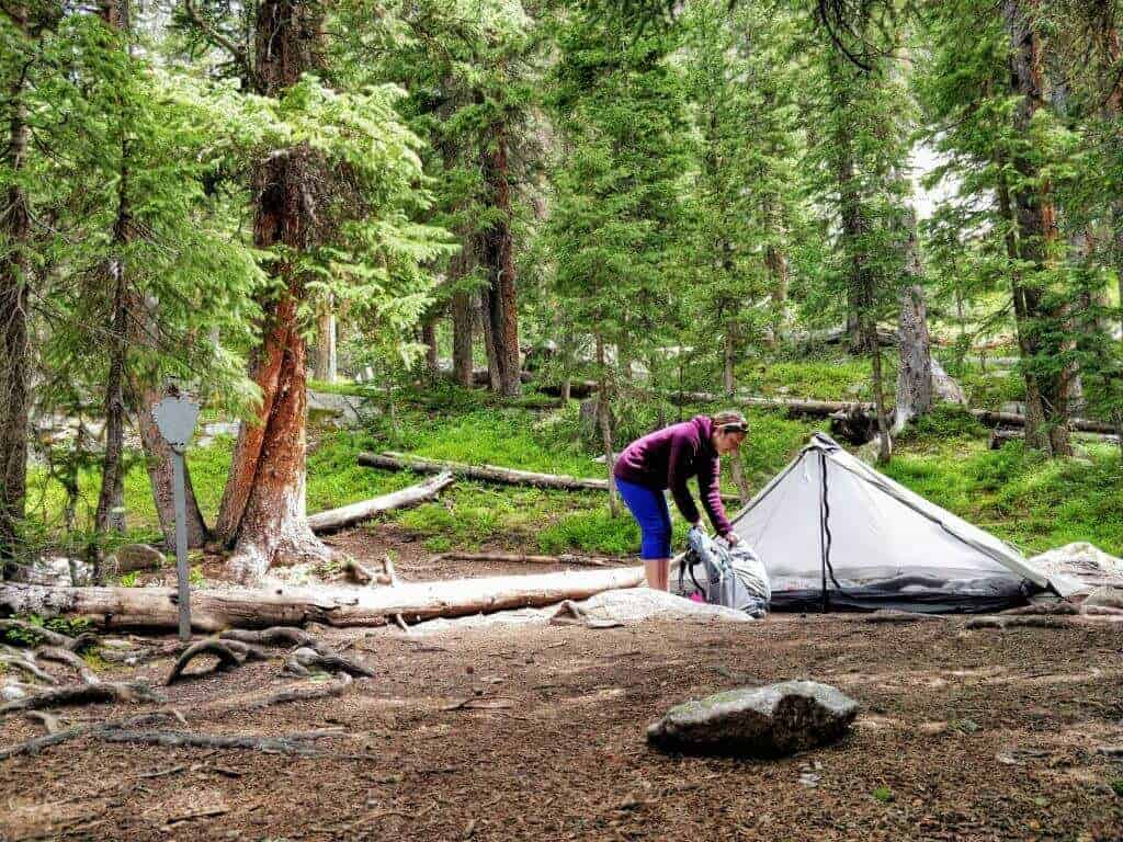 Upper East Inlet Campsite, Rocky Mountain National Park
