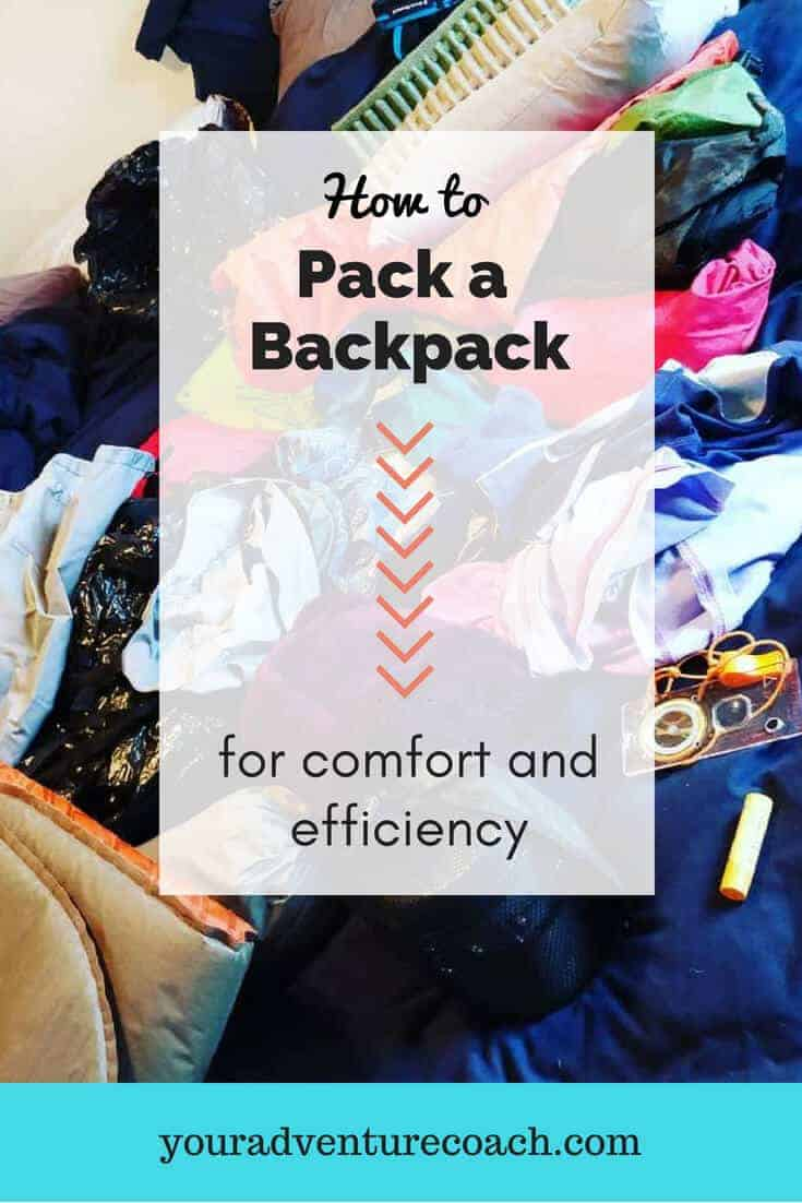 how to pack a backpack efficiently
