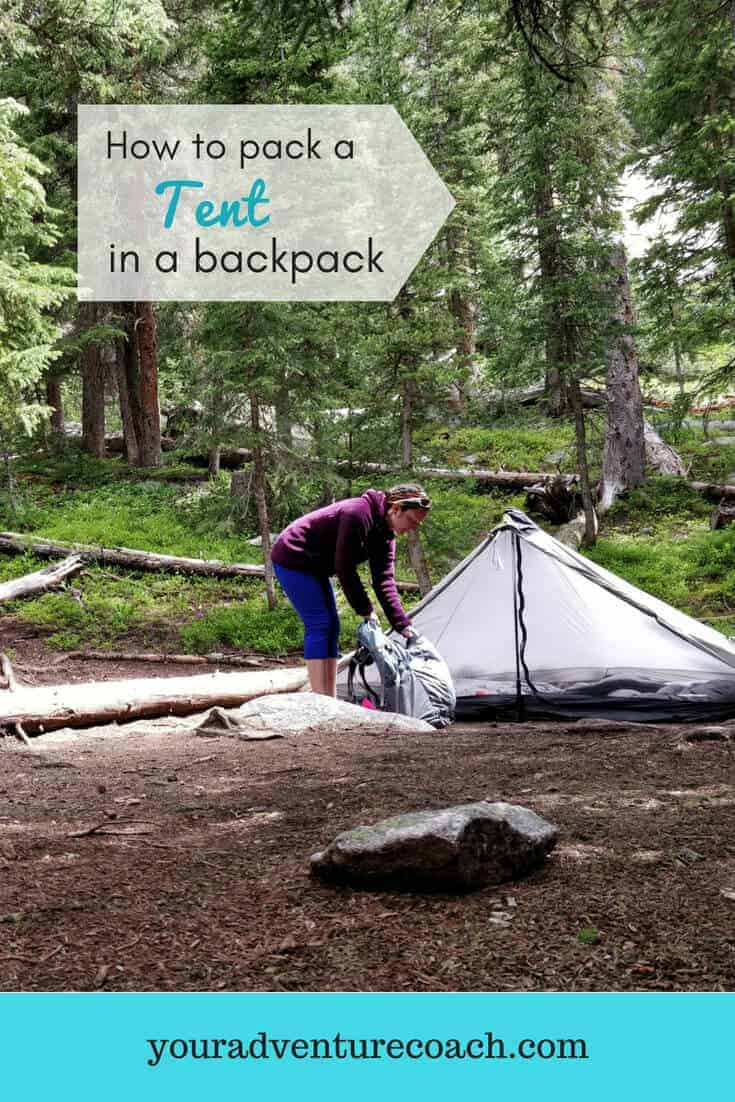 how to pack a tent in a backpack while camping