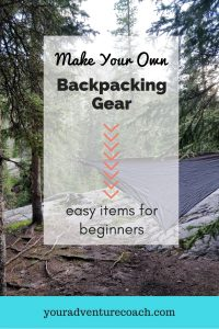 Easy make your own backpacking gear projects