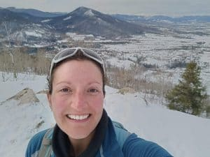 Hiking in winter weather