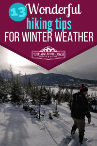 hiking tips for winter weather