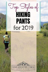 top styles of hiking pants