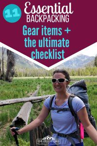 Backpacking gear checklist PDF download