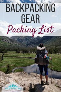 complete backpacking gear list