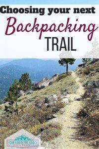 finding backpacking trails