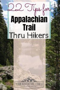 tips to thru hike the Appalachian Trail