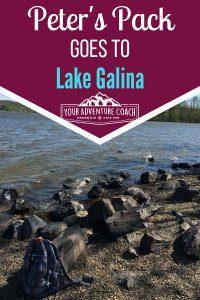 Peter's pack goes to lake galina