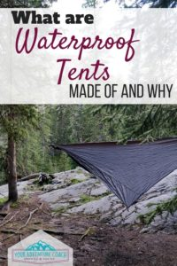 Waterproof tent and tarp materials