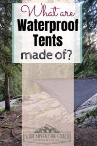 Waterproof tent materials