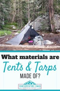 What waterproof tents are made of