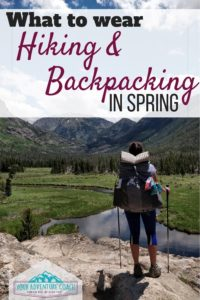 what to wear backpacking in spring