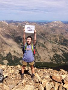 hiking a colorado 14er mt. elbert