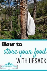how to store your food with ursack