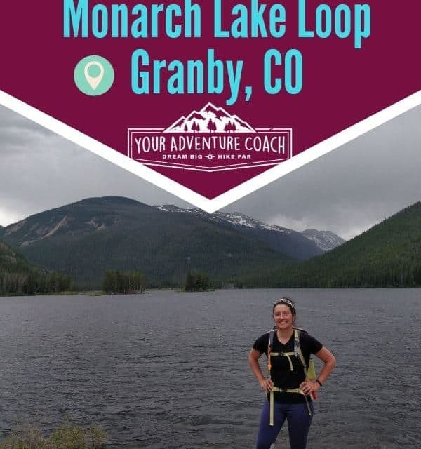Hiking Monarch Lake Loop Trail near Granby Colorado