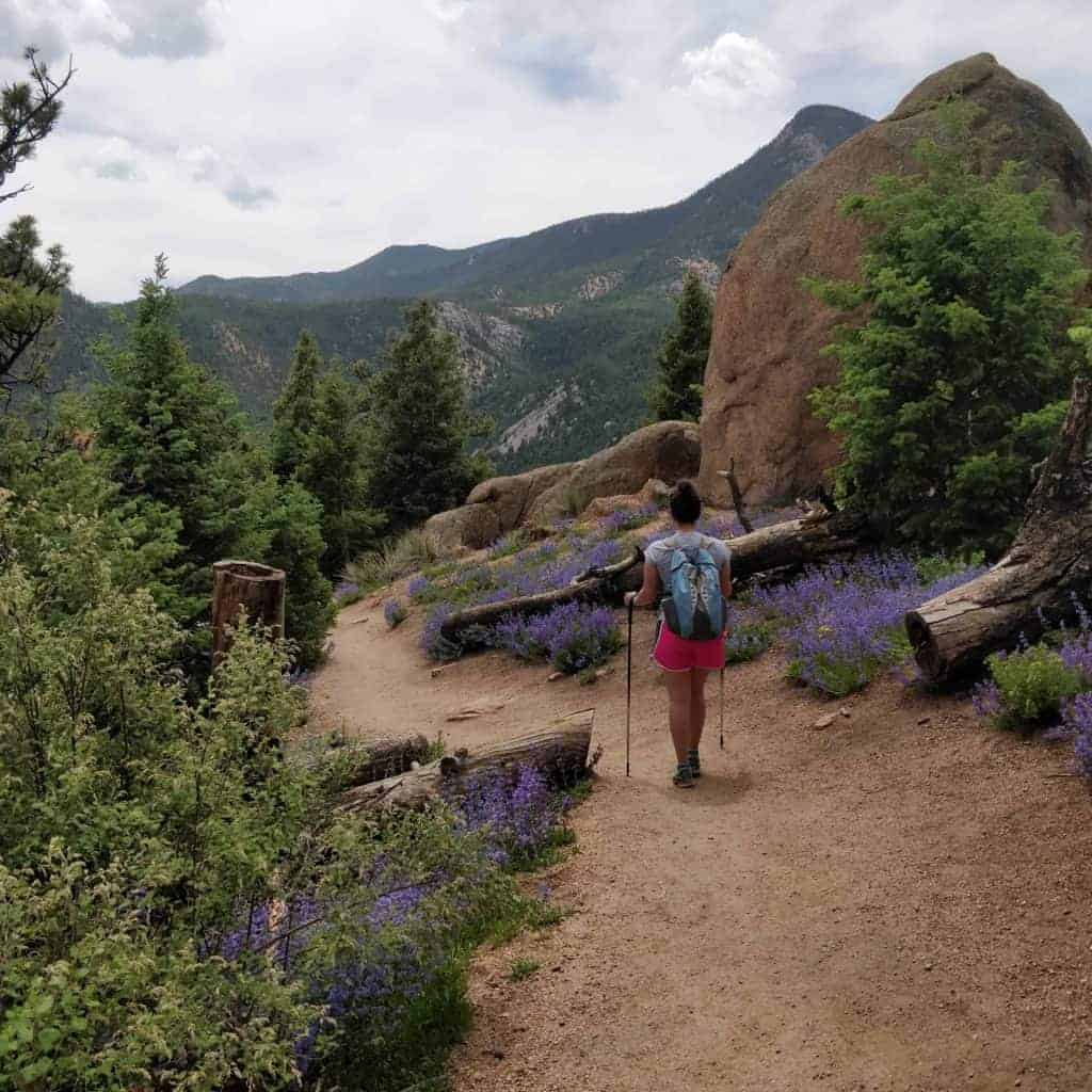 Hiking down the Barr Trail from the Manitou Incline