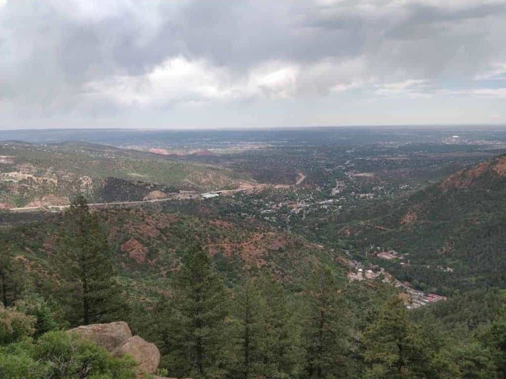 View of Colorado Springs from the Barr Trail