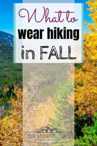 what to wear hiking and backpacking in fall