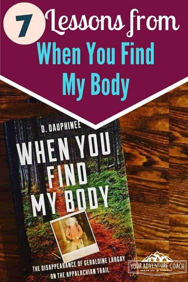 When you find my body book review about Geraldine Largay disappearance on the Appalachian Trail