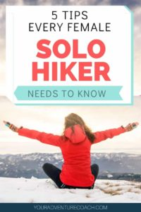 hiking tips for female hikers hiking alone