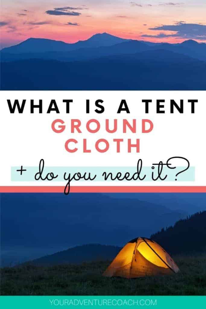 Tent ground cloth do you need one