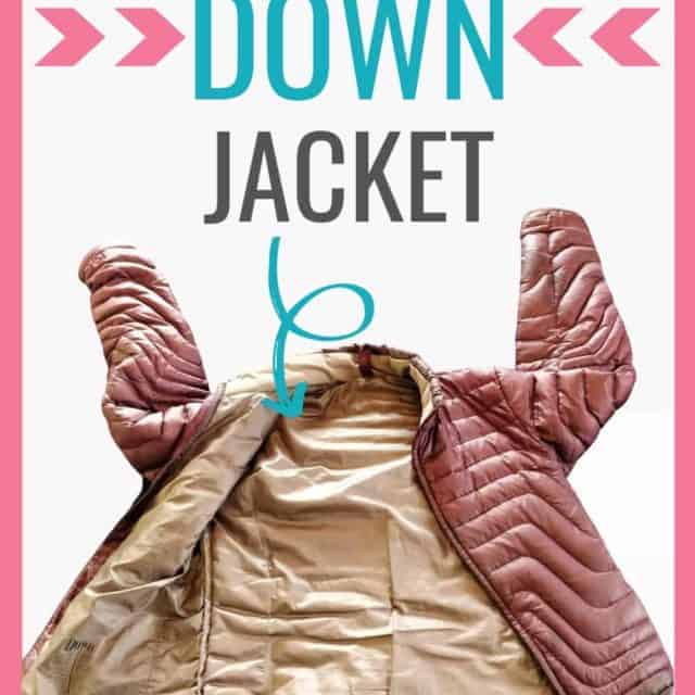 how to wash a down jacket properly