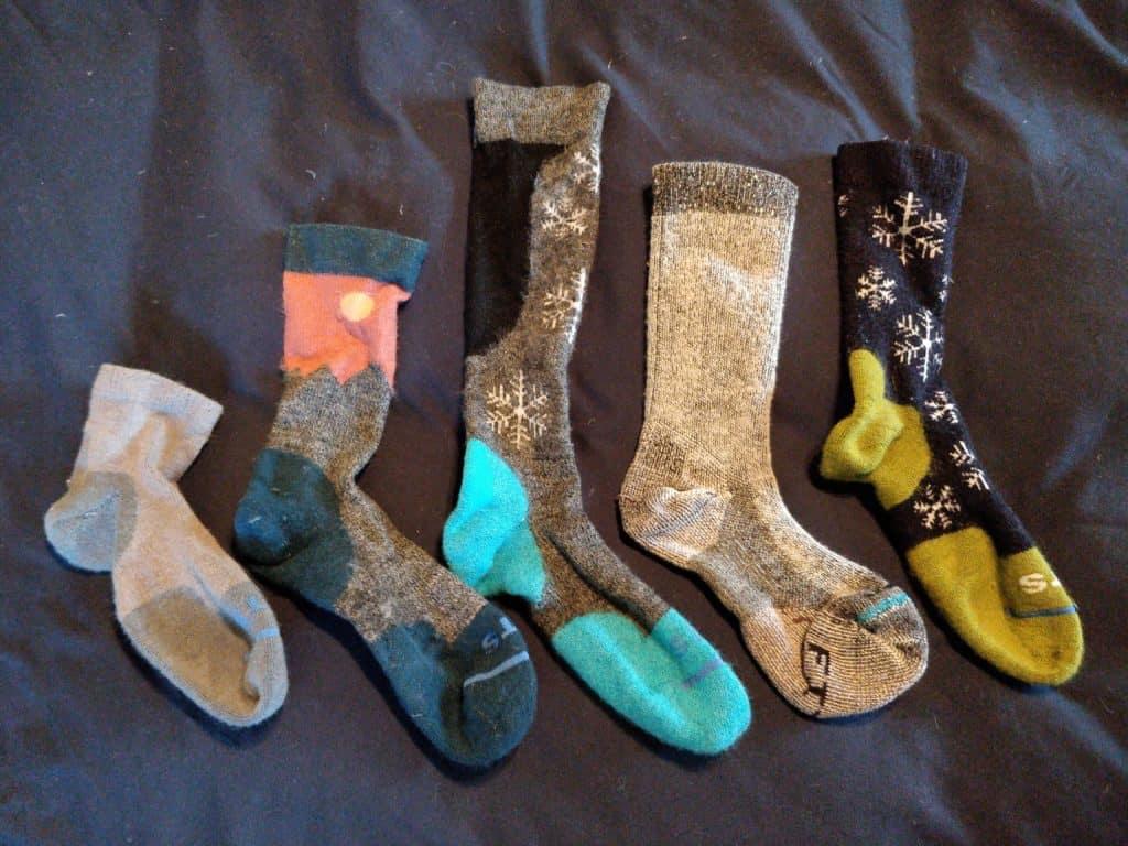 drying wool socks