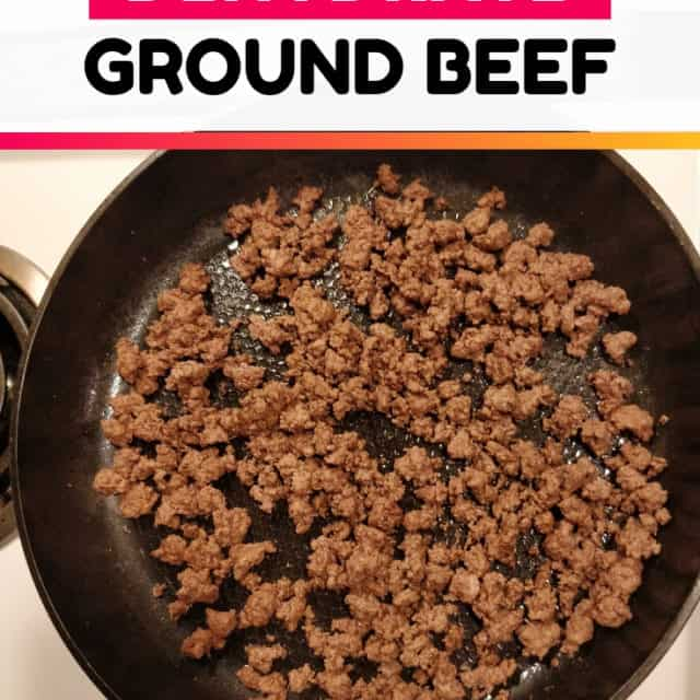 how to dehydrate ground beef