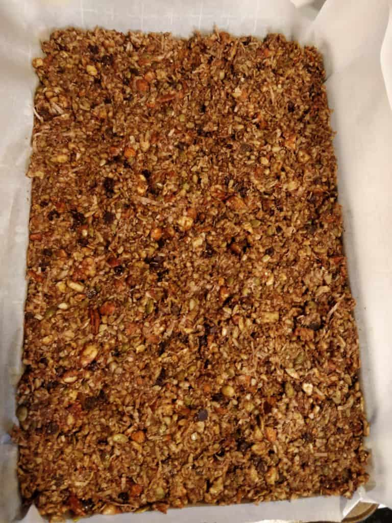 making keto granola bars