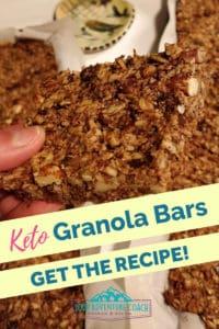 keto granola bar recipe for hikers