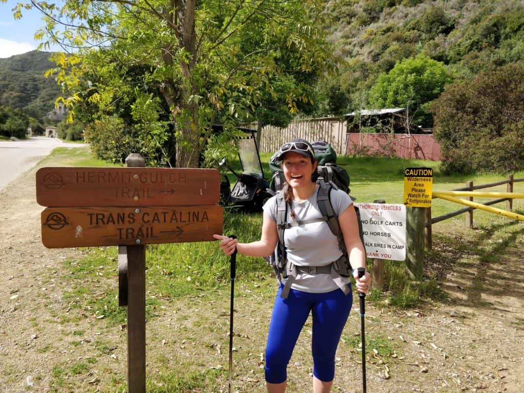 trans catalina trail at hermit gulch