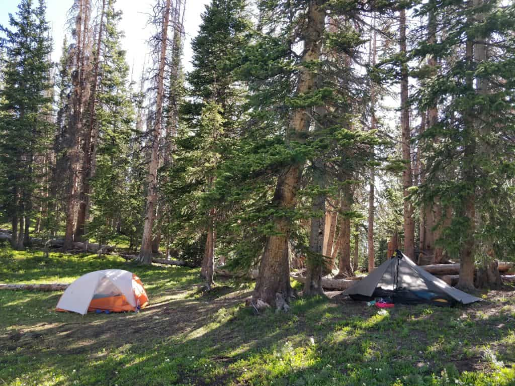 camping at Bowen Lake Colorado